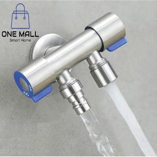 Vòi nước đa năng 2 cổng xả điều khiển thông minh. Đường kính lắp đặt 20mm. Chất liệu Inox. [ONE STORE]]