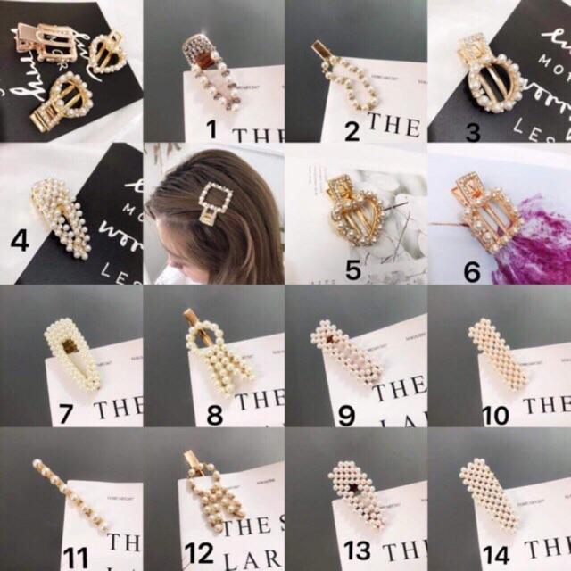 ✨Set✨ 6 kẹp tóc khác nhau