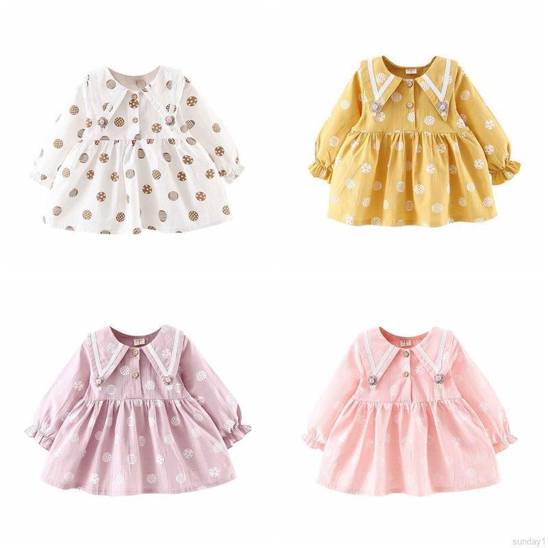 Đầm công chúa tay dài hoạ tiết chấm bi cho bé gái - 15076504 , 2728727879 , 322_2728727879 , 137100 , Dam-cong-chua-tay-dai-hoa-tiet-cham-bi-cho-be-gai-322_2728727879 , shopee.vn , Đầm công chúa tay dài hoạ tiết chấm bi cho bé gái