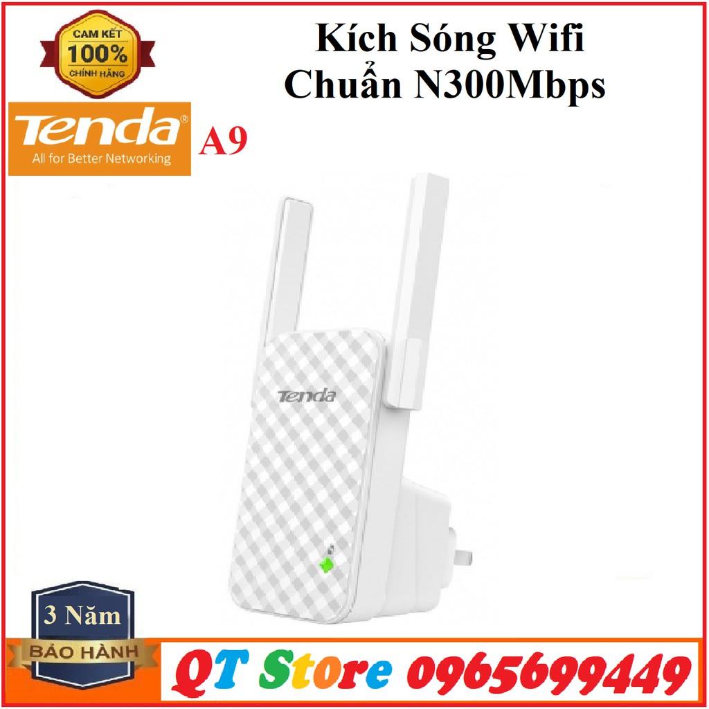 Kích Sóng Wifi Chuẩn N300 Tenda A9- Hàng Chính hãng