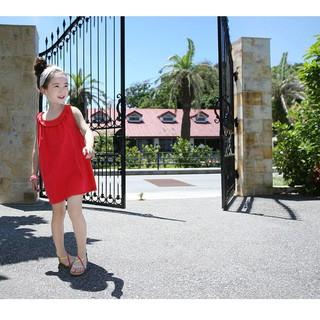 XẢ KHO váy đầm mùa hè cho bé gái chất liệu thô mát   M192