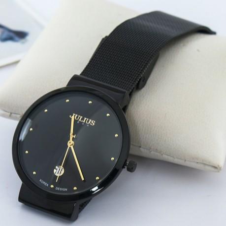 Đồng hồ nam Julius JA426 dây thép đen | Julius Official