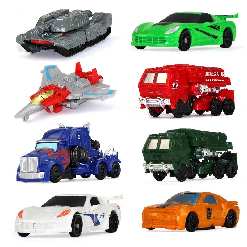 ♞△Deformed Toy King Kong 5 mini bumblebee Optimus Car robot airplane tank model boy Gift
