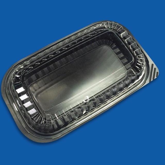 Hộp nhựa đế đen HT17 - 100 hộp đựng cơm dùng 1 lần