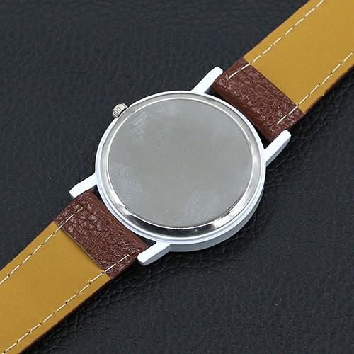 Đồng hồ dây giả da họa tiết ốc sên độc đáo cho nữ
