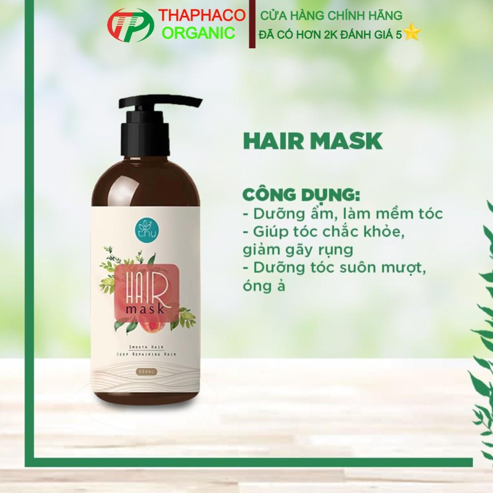 Hair Mask Hộp 300gr - Kem Ủ Tóc Thảo Dược Hương Đào - Kem Ủ Tóc Anthy Organic