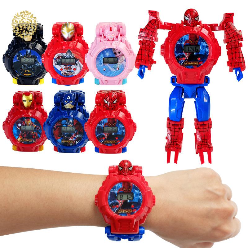 [Mã FASHIONCB73 hoàn 10K xu 50K] Đồng hồ robot biến hình dành cho bé trai