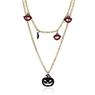 Jewelry NZ0860 Nai Pearl Pop Elements Lips Pumpkin Ghost Head Long Necklace Hall