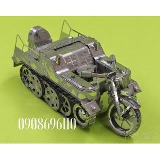Mô hình thép 3D xe quân sự