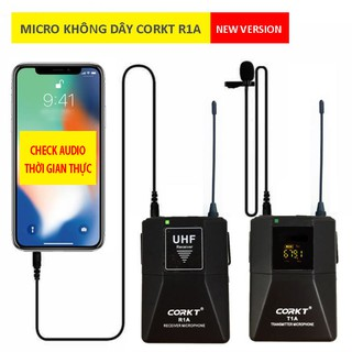 [Mã ELMSBC giảm 8% đơn 300K] Bộ micro không dây Corkt R1A (new version) - check âm thanh thời gian thực