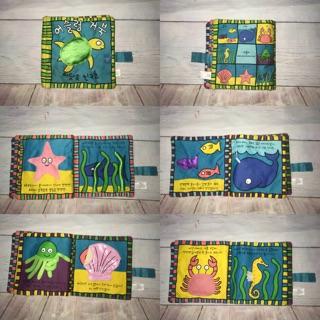 Sách vải đồ chơi sinh vật biển cho bé (đồ si tuyển)