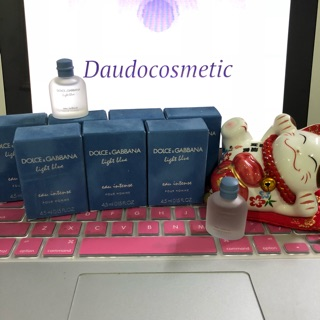[mini] Nước hoa Dolce & Gabbana D&G Light Blue Eau Intense Pour Homme 4.5ml thumbnail