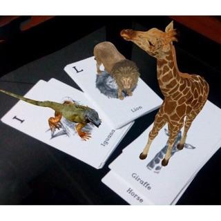 40 thẻ Bộ tranh 4D đồ chơi trí tuệ cho bé (Hàng nét loại 1)
