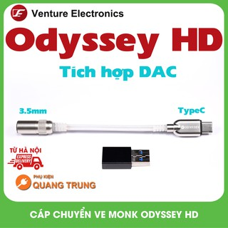 Cáp chuyển đổi Ve monk Odyssey HD,DAC type-C ra 3.5mm VE Odyssey HD