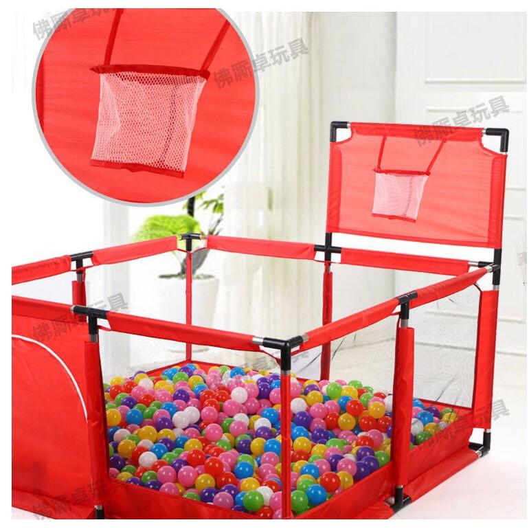 Nhà bóng cho bé, Quây bóng lều chơi bóng cho bé khung inox hình vuông