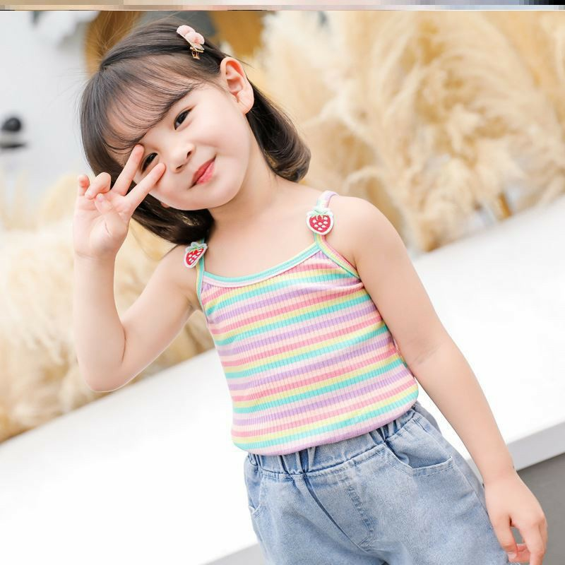 Lyvyshop - Combo 03 áo dây cho bé gái mặc hè cottton 04 chiều mềm mịn từ 08-28kg