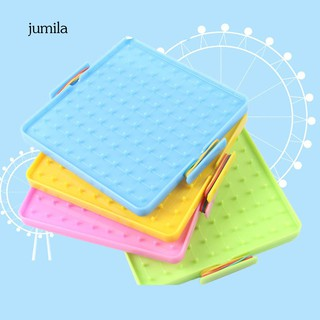 4 khay nhựa hình vuông có đinh nhựa và 40 dây chun đồ chơi giáo dục cho trẻ thumbnail