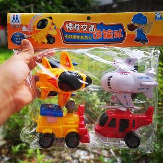 [FREESHIP] Set 4 đồ chơi chạy đà máy bay và tàu mô hình cho bé
