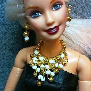 Bộ Trang Sức Búp Bê Barbie – Vòng cổ, Hoa Tai Búp bê Handmade Nguyên liệu Cao Cấp #5