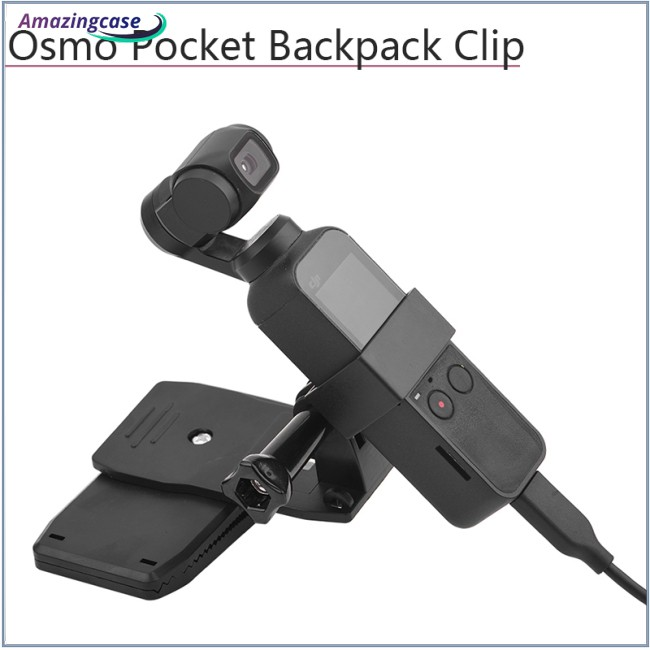 Backpack/Bag Clamp Clip for Osmo Pocket with Gimbal Camera Fixed Adapter Mount