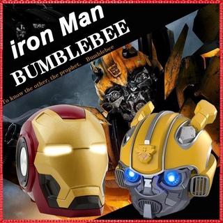 Loa Bluetooth Hình Nhân Vật Bumblebee / Iron Man Có Đèn Led