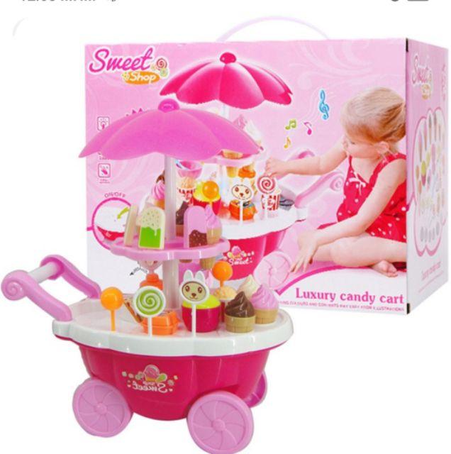 Bộ đồ chơi xe kem CÓ NHẠC- Món quà tặng đáng yêu cho bé gái