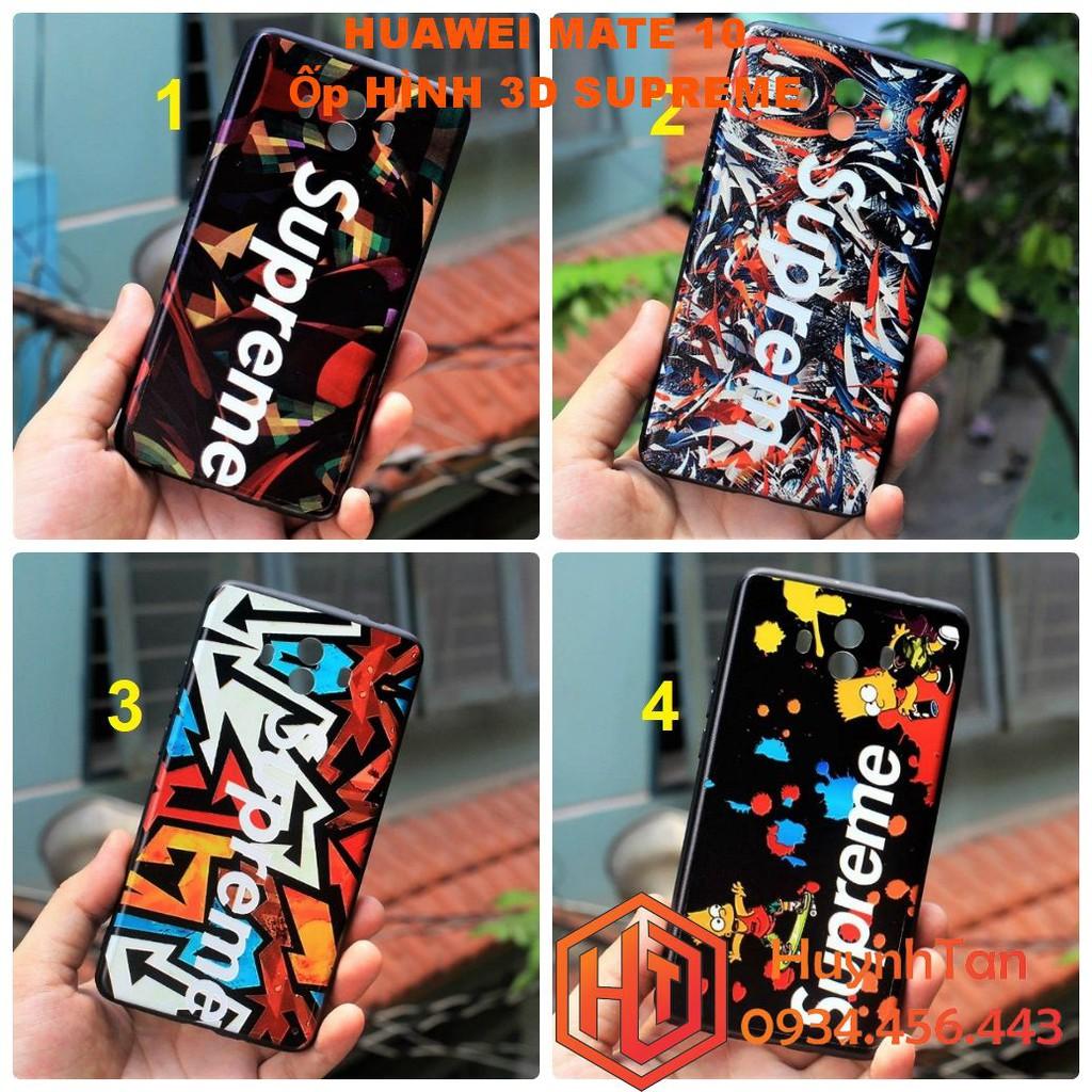 Ốp lưng Huawei Mate 10 _ Ốp lưng in 3D bộ supreme ( full hình)