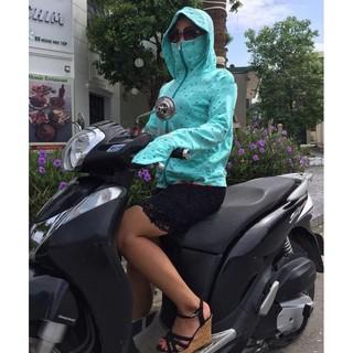 Áo chống nắng UV cut hoa 02