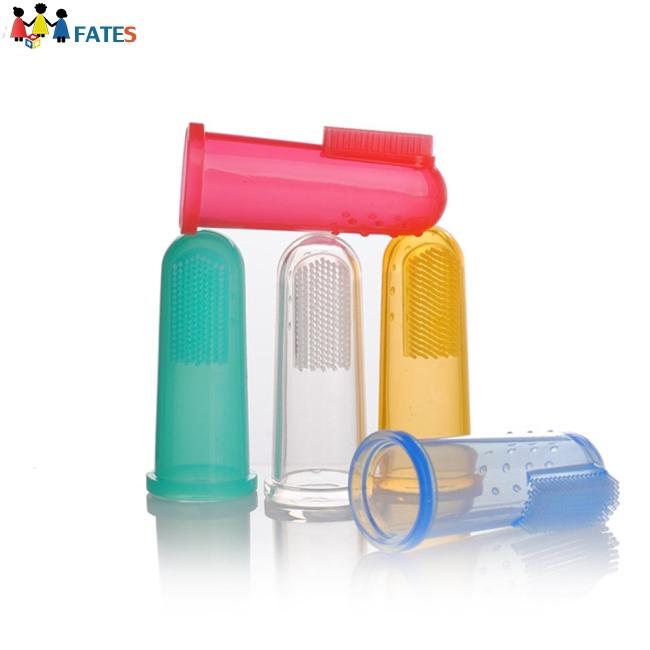 6Pcs/Set Soft Infant Silicone Finger Toothbrush