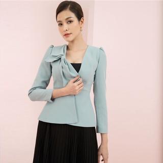 Áo vest xanh nơ ngực thiết kế Elise FW2006057TUWOBL thumbnail
