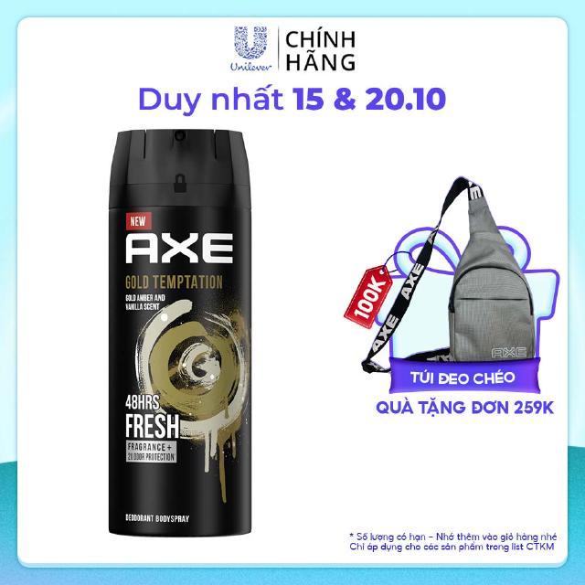 Xịt nước hoa toàn thân dành cho nam AXE Gold Temptation (135ml) thumbnail