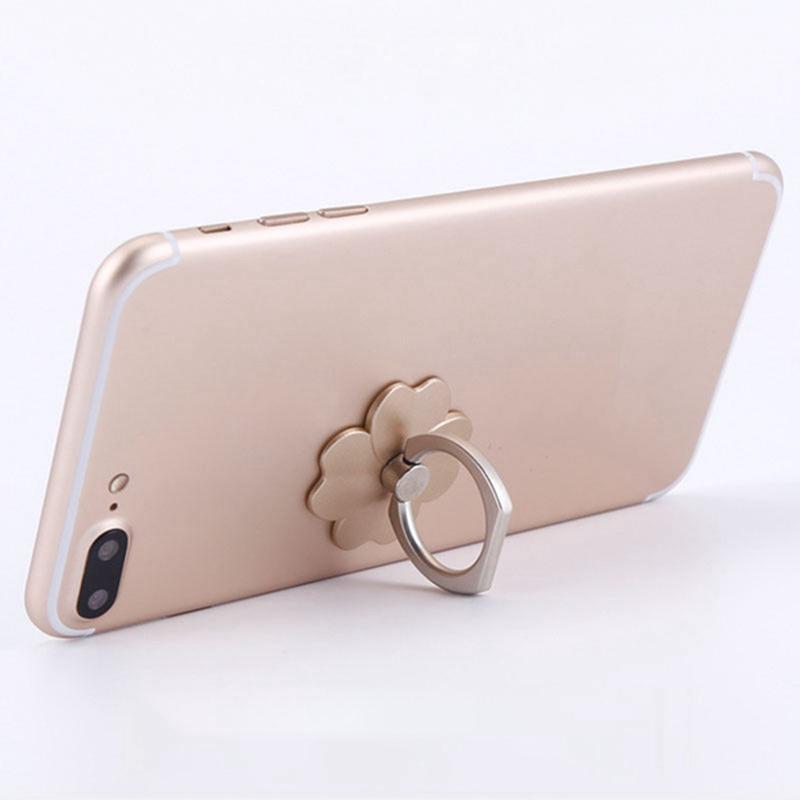 Nhẫn xỏ ngón giữ điện thoại/máy tính bảng hình bông hoa xinh xắn độc đáo