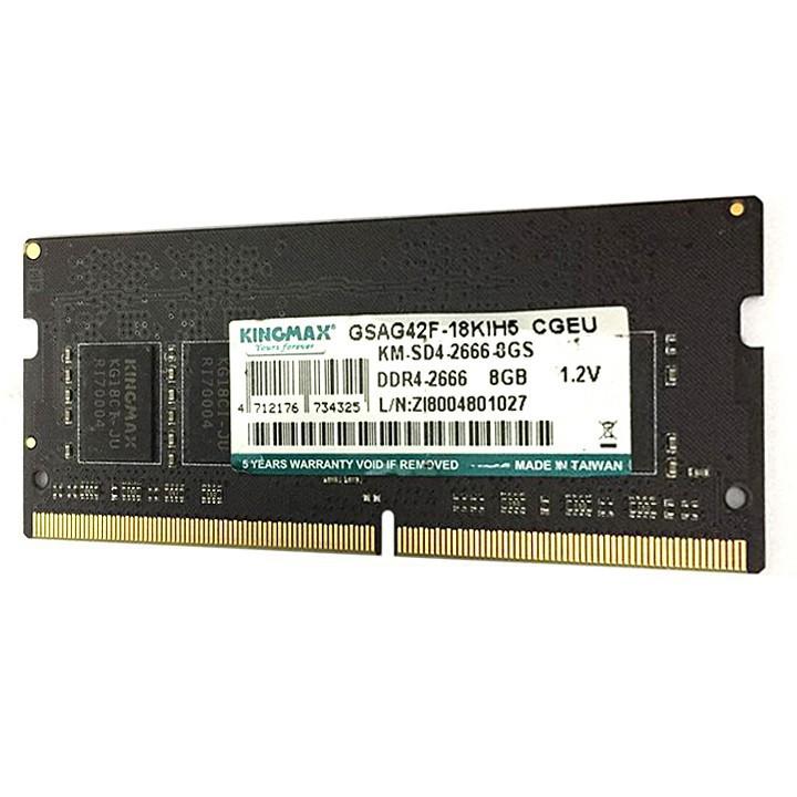 Ram cho laptop Kingmax DDR4 8GB bus 2666 MHz - bảo hành 3 năm