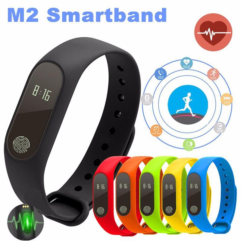 Đồng hồ thông minh theo dõi sức khỏe M2 (đen) -dc2116