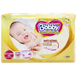 tã dán bobby extra softdry Xs 48 miếng - S40 miếng thumbnail