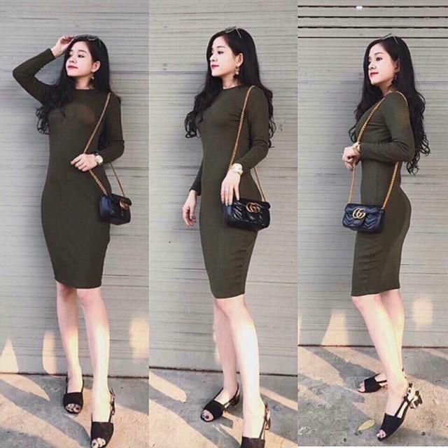(Guu_house) Váy body len tăm dài tay