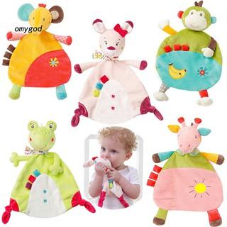〖OMG〗Soft Towel Blanket Monkey Elephant Sensory Plush Toy Newborn Children Baby Gift