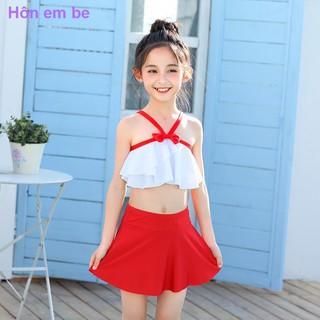 đứa trẻthời trangQuần áo trẻ emcập nhậtĐỏ ròngĐồ bơi trẻ em, bé gái và gái, em trung niên Tongbao xẻ tà kiểu v