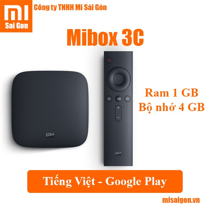 Xiaomi Mibox 3C ( Tiếng Việt - Google play )