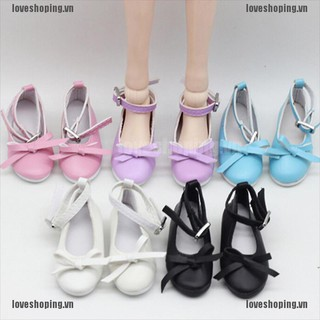 [Love] 1 Pair doll princess shoes for BJD dolls SD 1/3 doll 60cm doll accessories [VN]