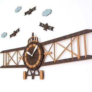 [Design by Hàn Quốc] Đồng hồ treo tường, đồng hồ trang trí decor nhà cửa hình máy bay – Airplane wall clock