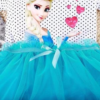 Đầm Công Chúa Elsa Anna Dễ Thương Cho Bé Gái 2-6 Tuổi