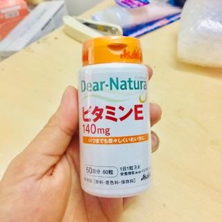 [sẵn, 60 ngày] viên uống bổ sung vitamin e dear natura made in japan