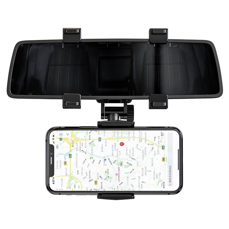 CHÍNH HÃNG Giá đỡ điện thoại ô tô kẹp cho gương chiếu hậu Hoco CA70