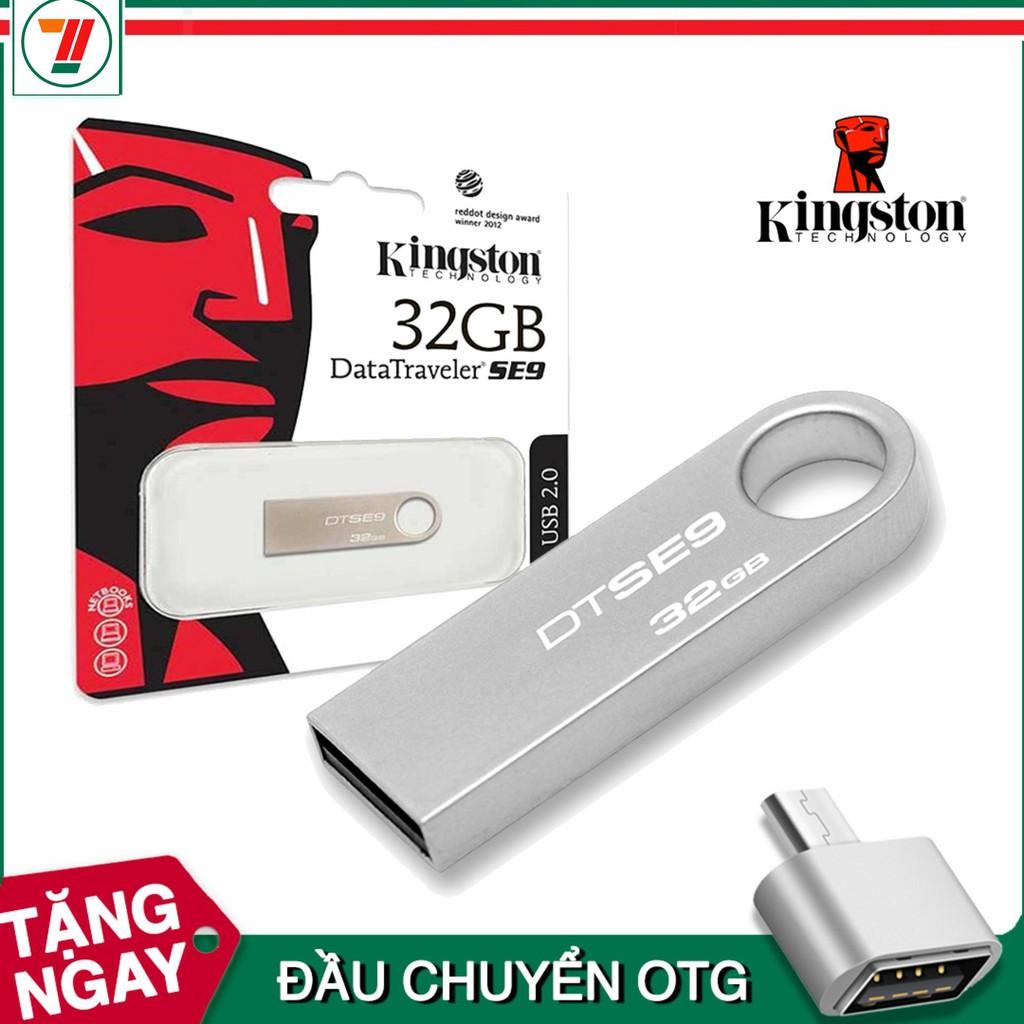 USB Kjngston DataTraveler SE9 32GB (Màu Bạc)- Bảo hành 5 năm lỗi 1 đổi 1
