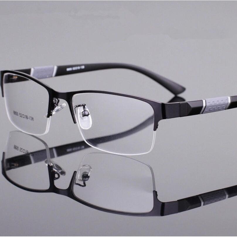 Mắt kính gọng kim loại chống bức xạ thời trang cho nam