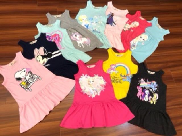 Váy cotton elsa pony mickey 2/3 tuổi đến 10 tuổi