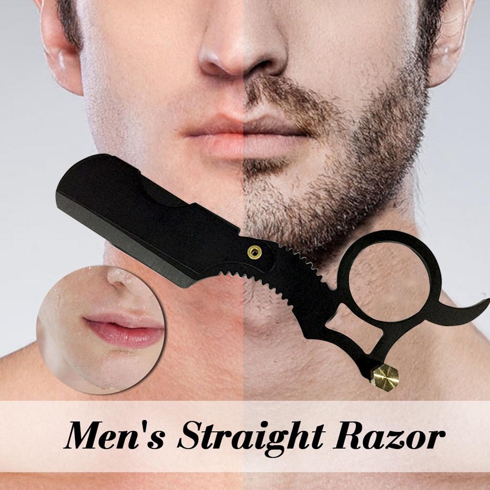 Hairdresser Manual Shaving Tool Straight Edge Oil Head Cutter Holder Eyebrow Barber Razor