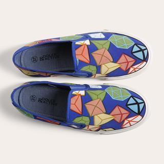 Giày slipon D&Anữ thời trang L1502 hoa kim cương