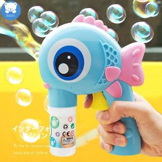 Big Eye Fish Bubble Blowing Toys Inertia Manual Big Bubble Machine Fully Automatic Water Bubble